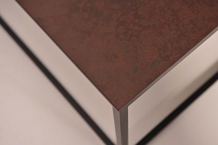 ława stolik kawowy 100x60 metalowy stelaż z blatem laminam ładny nowoczesny