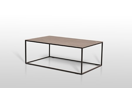 ławy ze spiekiem kwarcowym na metalowych nogach styl loftowy szary blat matowy