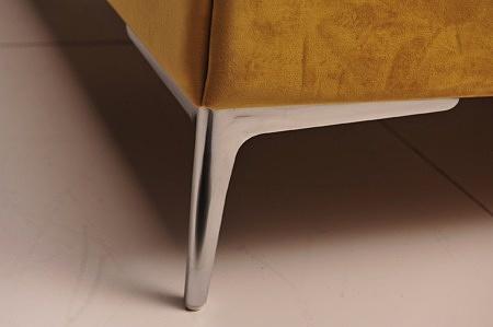 Małżeńskie nowoczesne łóżko na wymiar wysoki zagłówek pikowane zdobienia