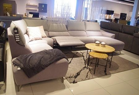 Narożnik tapicerowany do eleganckiego salonu aviva tc meble dobrodzień salon loft