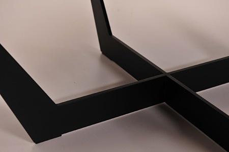 Noga stolika kawowego czarna metalowa malwoana proszkowo rama nowoczesna stylowa modna dobrodzień