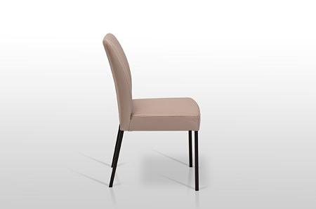 Nowoczesne krzesło do jadalni na 4 stabilnych nóżkach niskie wygodne i eleganckie