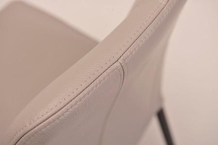 oparcie z przeszyciem w grubej skórze oryginalne krzesła do jadalni drewnianego stołu