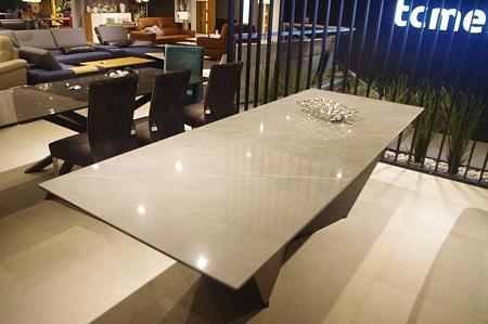 Pietra grey połysk spiek Laminam stół loftowy