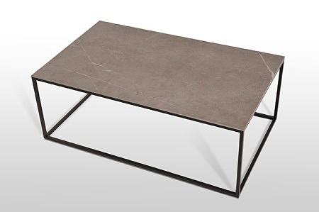 Prostokątny stolik kawowy do nowoczesnego wnętrza spiek laminam design