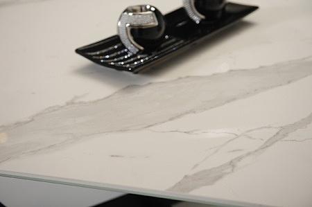 Statuario venato matowy kwadratowy prostokątny biał jasny