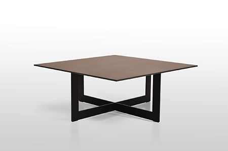 stolik kawowy 100x100 spiek kwarcowy ossido nero matowy ciemny kwadratowy na szkle fl