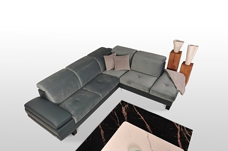 Stylowy narożnik dostępny również jako kanapa 2-os i 3-os fotel regulacja zagłówka wysoki zagłówek