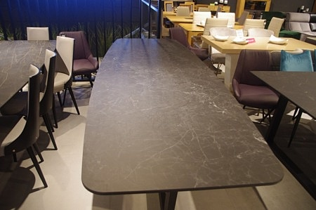 Kształt stołu beczka laminam