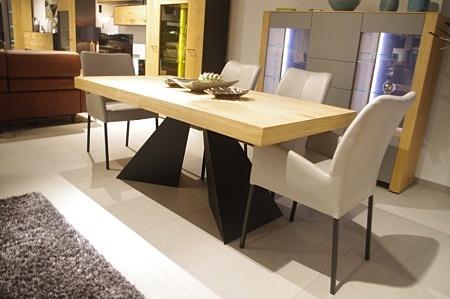 Stół a10 dębowy czarna noga
