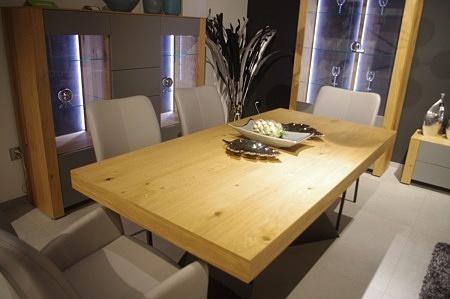 Stół rozkładany dąb metal