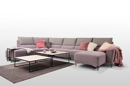 Aviva z szerszym bokiem nogi wysokie metalowe do eleganckiego wnętrza nowoczesny design regulowana pozycja siedząca