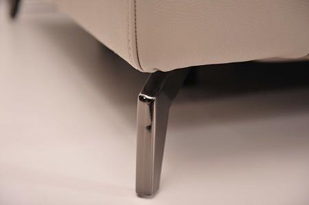 Kompaktowy wypoczynek z możliwością zmiany rozmiaru na zamówienie biała gruba skóra przeszycie 1