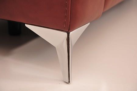 Metalowa nóżka jaskolka nowoczesna modna chromowana lub czarna wykwintna nieszablonowy