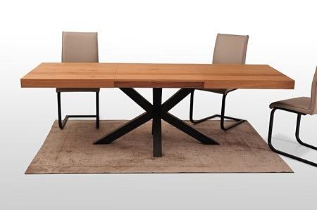 Noga a16 do stolow z rozkładanymi blatami kształt ścięty lub prosty dąb sękaty szczotkowany