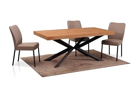 Podłużny stół rozciągany z dokladkami chowanymi we wnetrzu 180 x 90 naturalna okleina dębowa 1