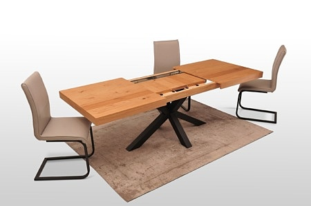 Rozkladany stół szerokości 90cm i 100cm prosta forma loft styl industrialny
