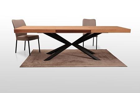 Rozłożony blat stołu a8 czarna noga struktura farba proszkowa