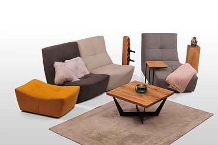 Sofa i otomana różne kolory zolta tc meble