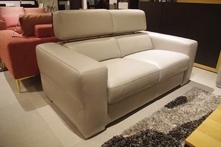 Sofa szara do salonu jadalni wygodna skóra