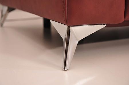 Standardowa noga kanapa narożnik infinity chromowa metalowa