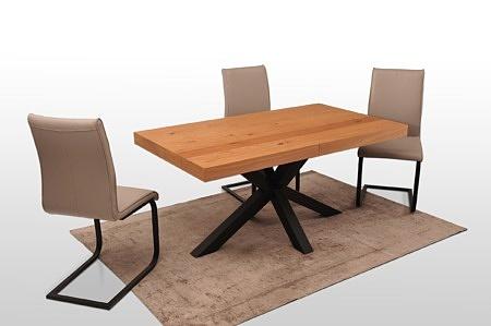 Stół a16 bazalt czarna noga i dębowy blat fornirorwy 180 90 albo 200 100 producent Dobrodzień