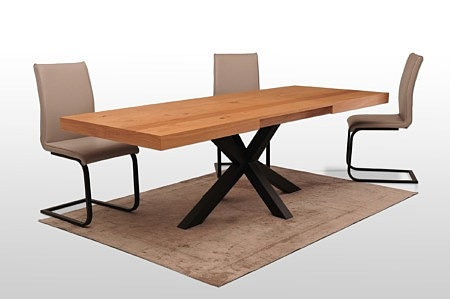 Stół bazalt a16 profil metalowy zamknięty malowany proszkowo stalowa noga krzyżak blat max 300 cm