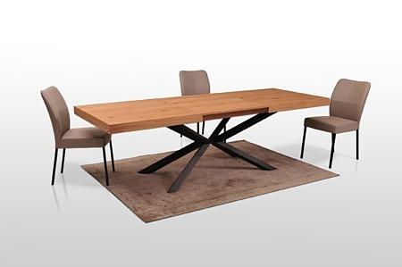 Stół do wspołczesnego domu na metalowym postumencie topdesign tcmeble.pl