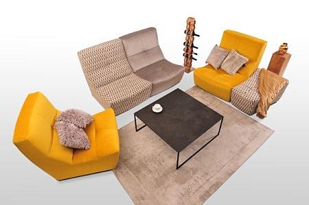 Żółty i szary fotel wysokiej klasy meble tapicerowane Dobrodzień tc meble producent różne szerokości