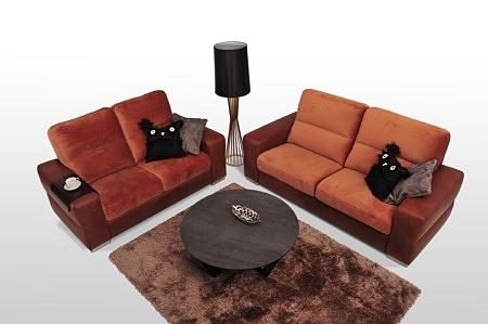 Livio eleganckie sofy wykończenie skóra brązowa na wymiar zamówienie meble z Dobrodzienia