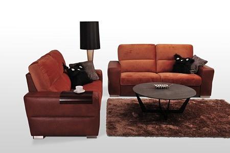 Livio - sofy do salonu w kolorze rudym, brązowym i pomarańczowym, różne kolory do wyboru, aranżacja wnętrza