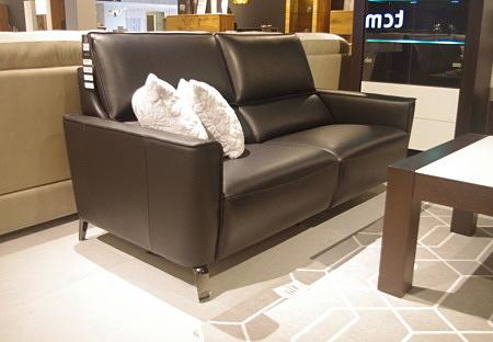 Aviva sofa 3-os czarna skóra