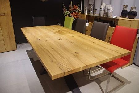 Blat z litego drewna stół loft