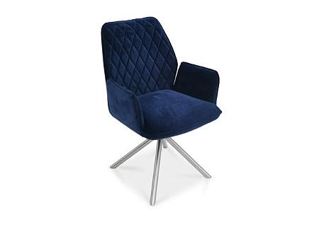 Fotel z przeszyciami w kratę materiały najwyższej klasy