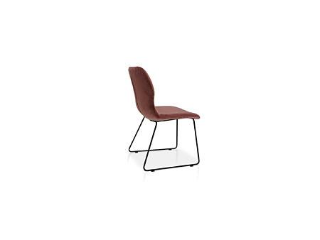 Industrialne krzesełko w aksamitnej tkaninie