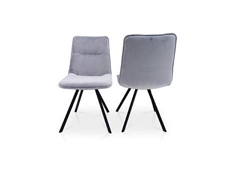 Krzesełka do nowoczesnej jadalni do dużego stołu szary kolor