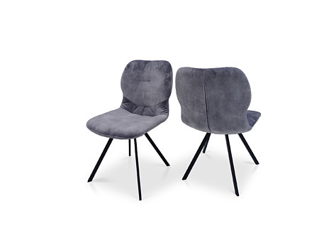 Krzesełka od producenta szary kolor metalowa noga