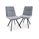 Krzesełka w kolorze szarym z materiałów odpornych na plamy