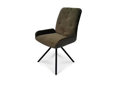 Krzesełko z wygodnym oparciem w nowoczesnej tkaninie odpornej na zabrudzenia