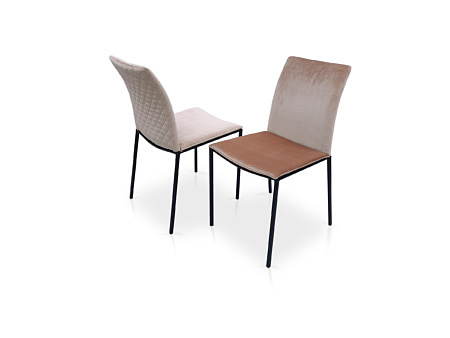 Krzesła chloe w tkaninie z przeszyciem na plecach