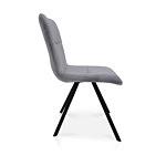 Krzesła dobrodzień koloru szarego w tkaninie
