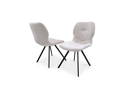 Krzesła na 4 metalowych nóżkach wygodne designerskie