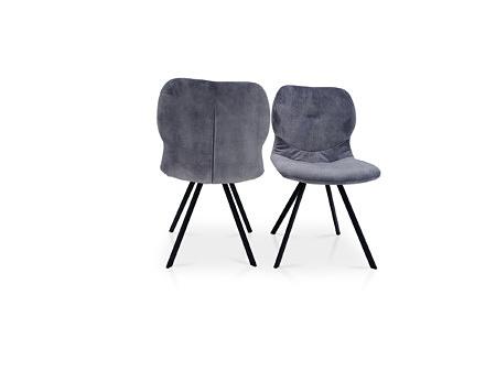 Krzesła stuhl grau farbe na metall nodze