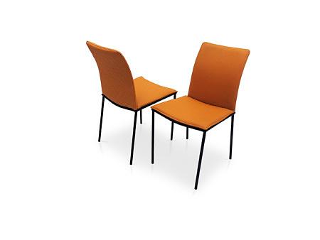 Krzesła z naturalną skórą w kolorze jasny brąz