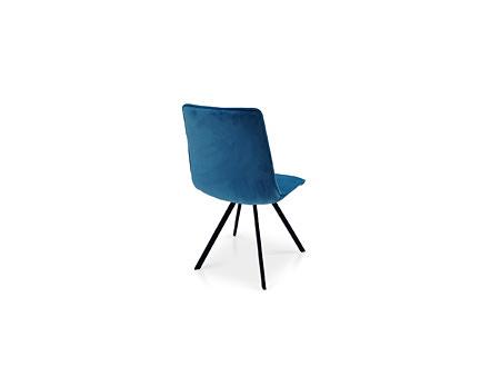 Krzeslo do nowoczesnej jadalni do stołu w pięknym kolorze aksamitna tkanina