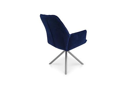 Krzesło fotel w kolorze granatowym tkanina impregnowana