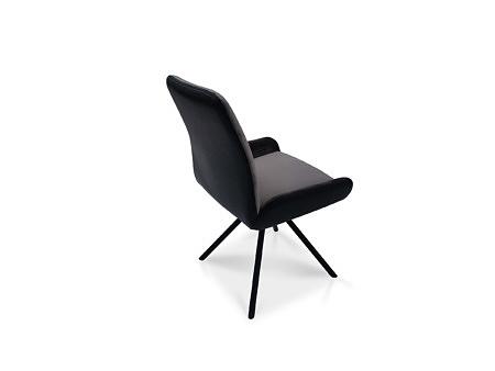 Krzesło na 4 nóżkach malowane proszkowo metalowe