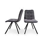 Krzesło na 4 nóżkach z przeszyciami na plecach i na siedzisku