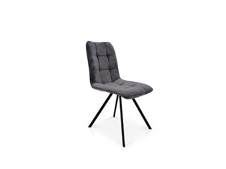 Krzesło na metalowej nodze ciemno szary kolor