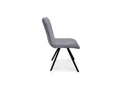 Krzesło na metalowych czarnych nóżkach stabilne i bardzo nowoczesne